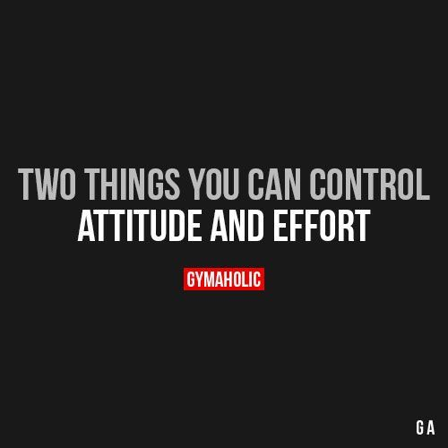 Attitude and effort. #fitness