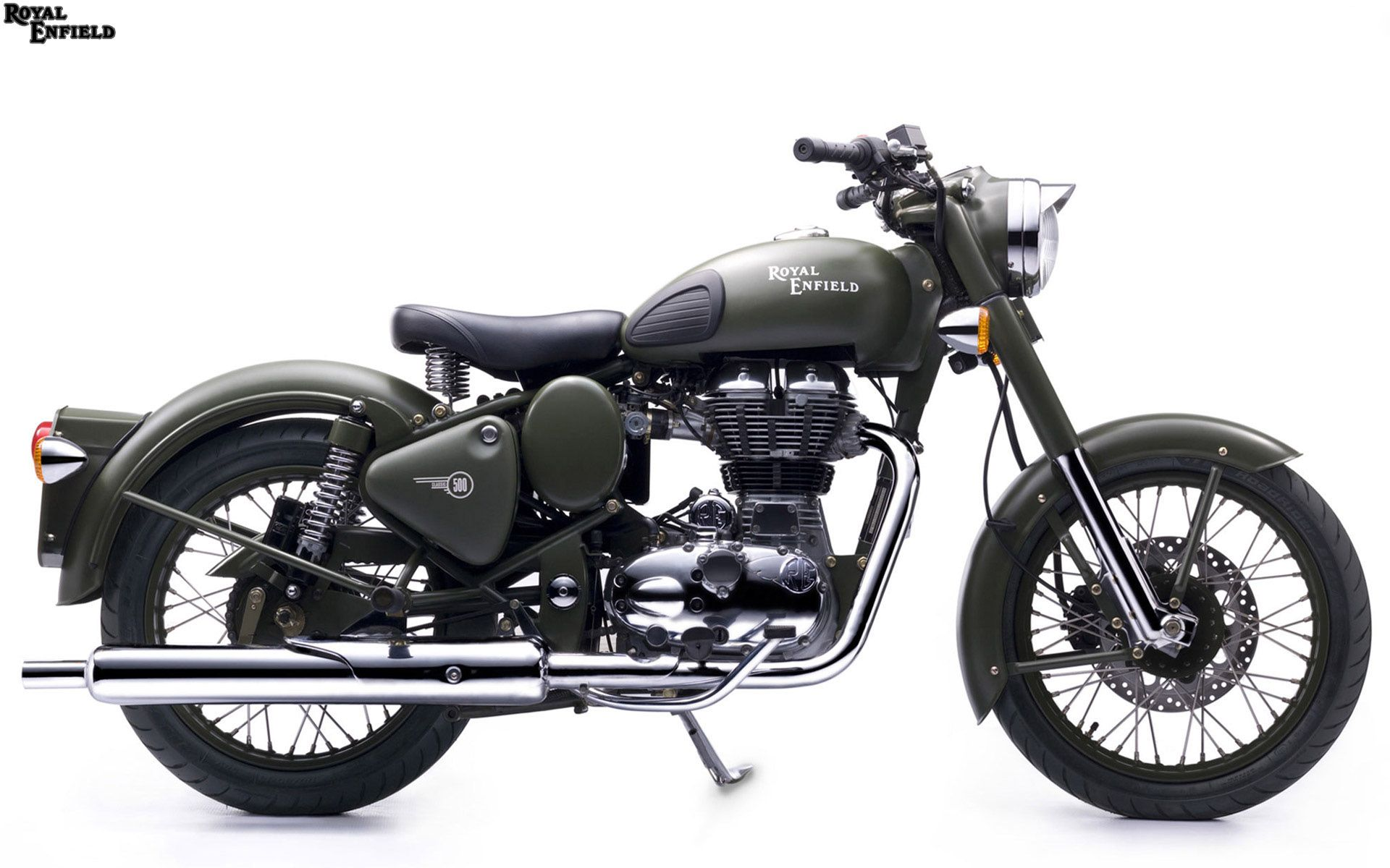 Royal Enfield Classic Battle Green Hq Picture Royal Enfield
