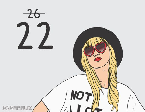 Taylor Swift 22 Birthday Card Cardss