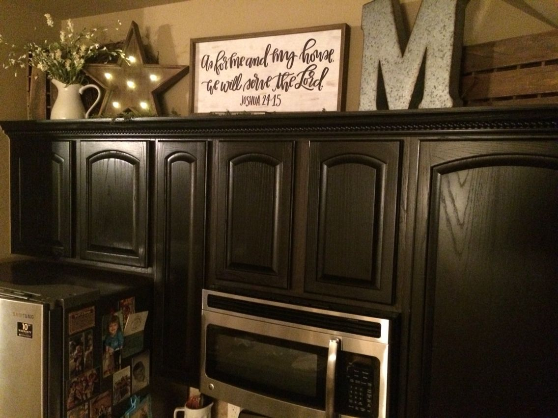 Top of kitchen cabinet decor | Decorating above kitchen ...