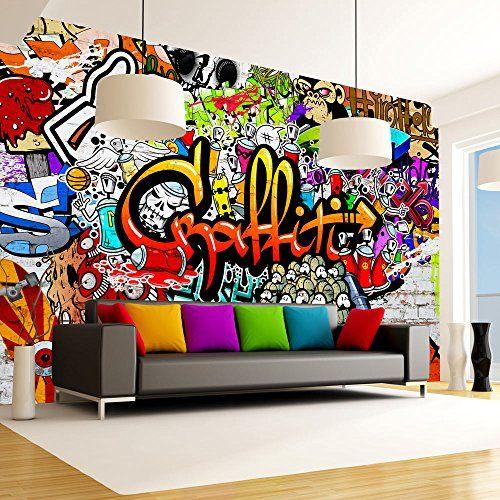 Papier peint graffiti sur amazon pour chambre d 39 ados - Papier peint pour chambre ado ...