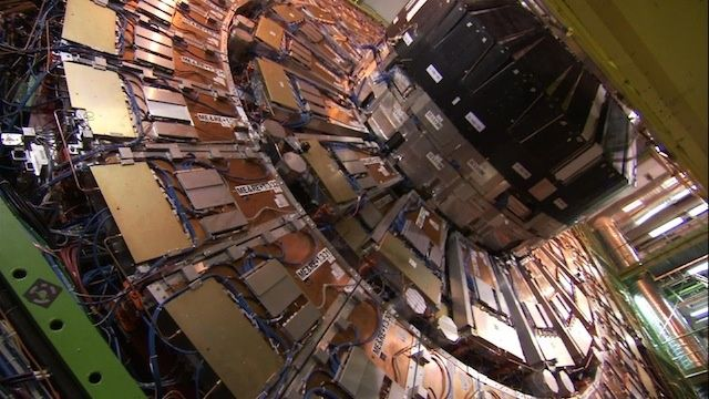 One of the mega detectors that discovered the Higgs