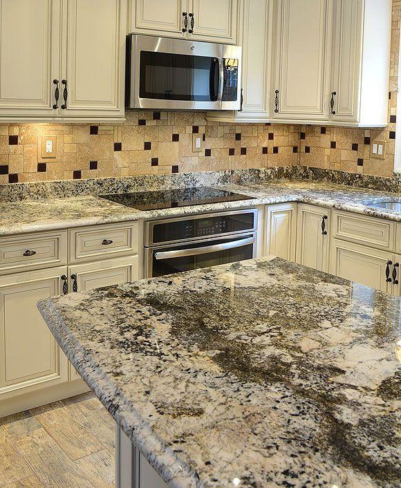 Brown travertine glass mix kitchen backsplash tile from Backsplash
