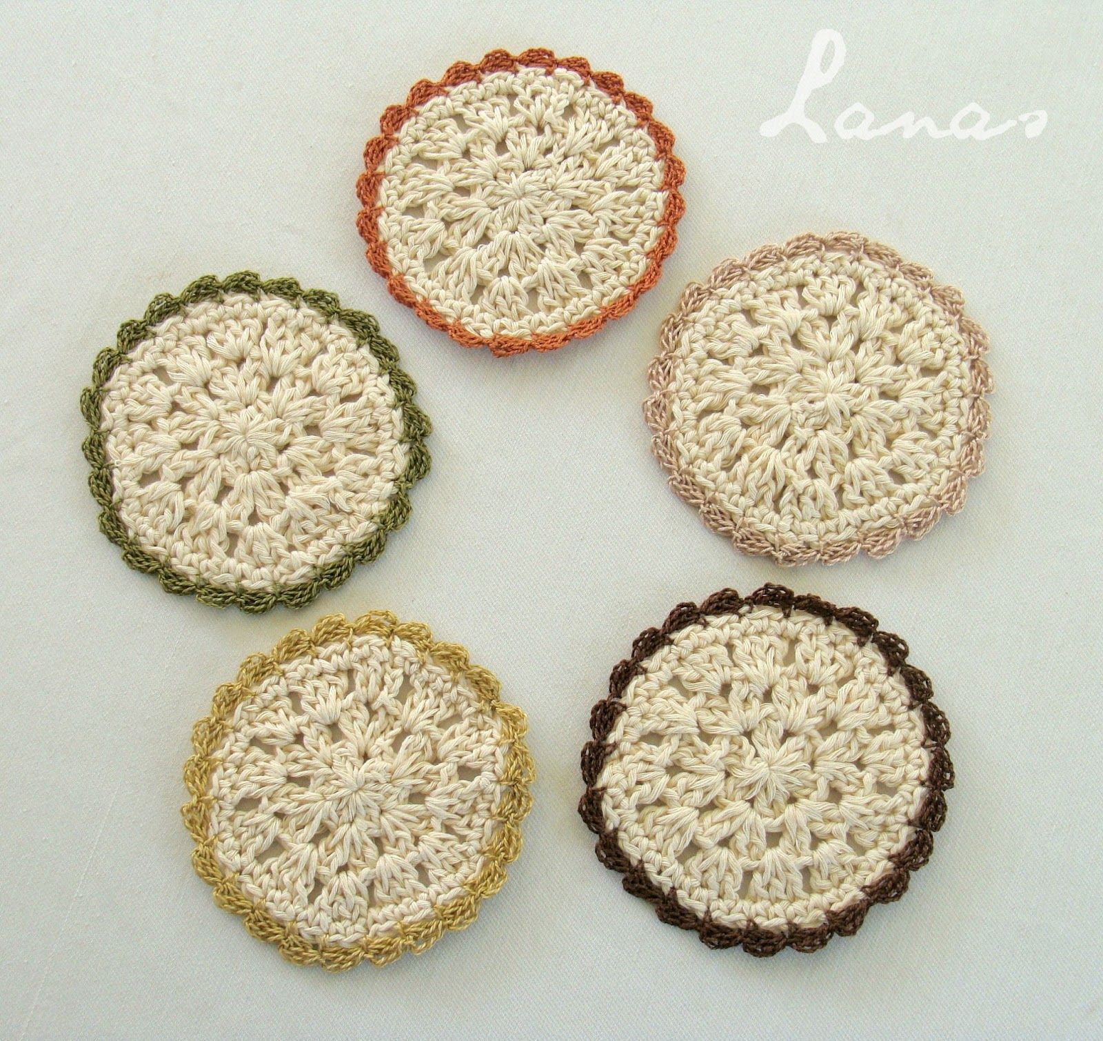 "Crochet) As promised, here is the pattern for the ""Bloom Coasters ..."