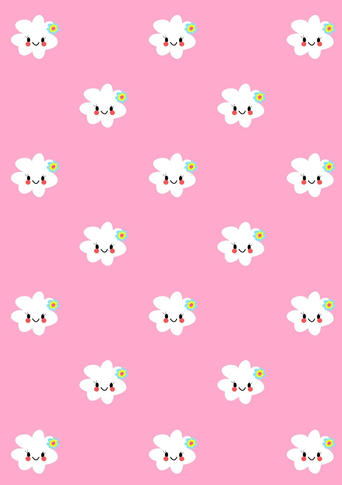 Free printable kawaii flower paper | girly pink | Patterns ... - photo#5