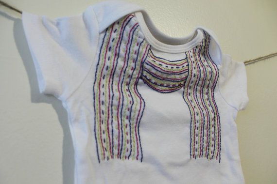 Hand Embroidered SCARF onesie by MilaAndBelle on Etsy, $18.00