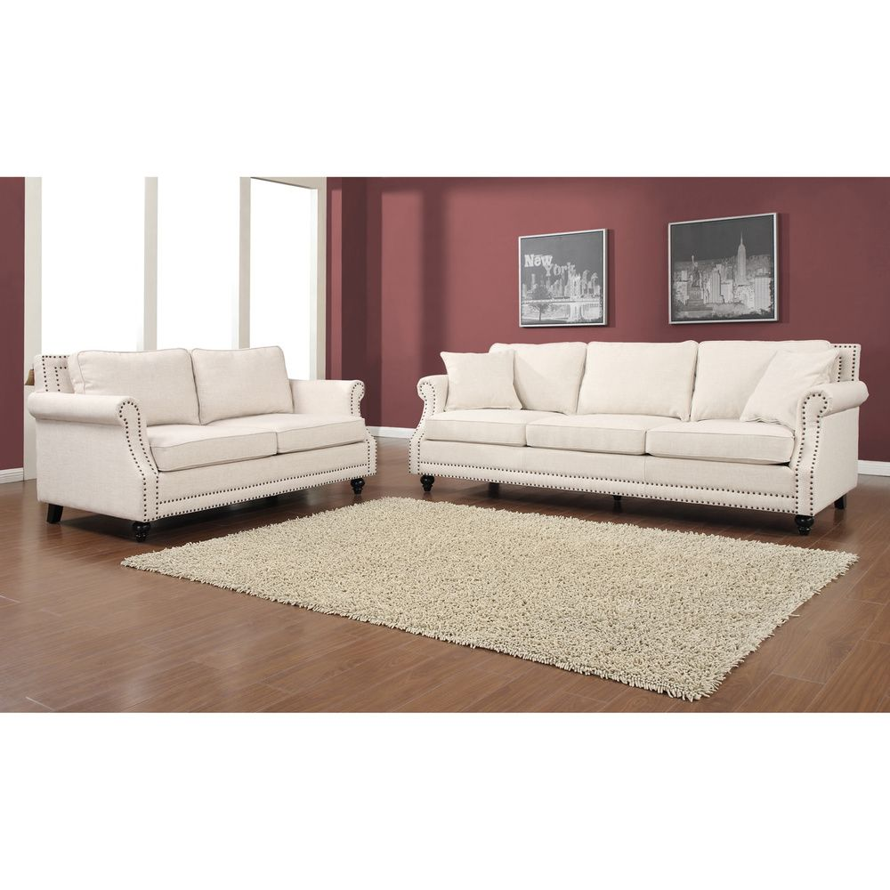 Camden beige linen living room set overstock shopping great