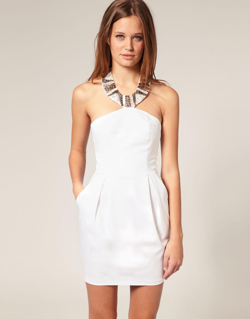 Schone Weisse Kleider Fur Jeden Anlass Heine Dunkelblau Abendkleider Festlichekleider Knielang Cocktailk White Dress Summer Nice White Dresses Tulip Dress [ 1110 x 870 Pixel ]