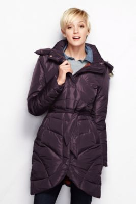 cdcd81c1d9 Women s Tulip-Hem Down Coat from Lands  End The warmest jacket ever!!! From  the lined pockets to the attachable hood