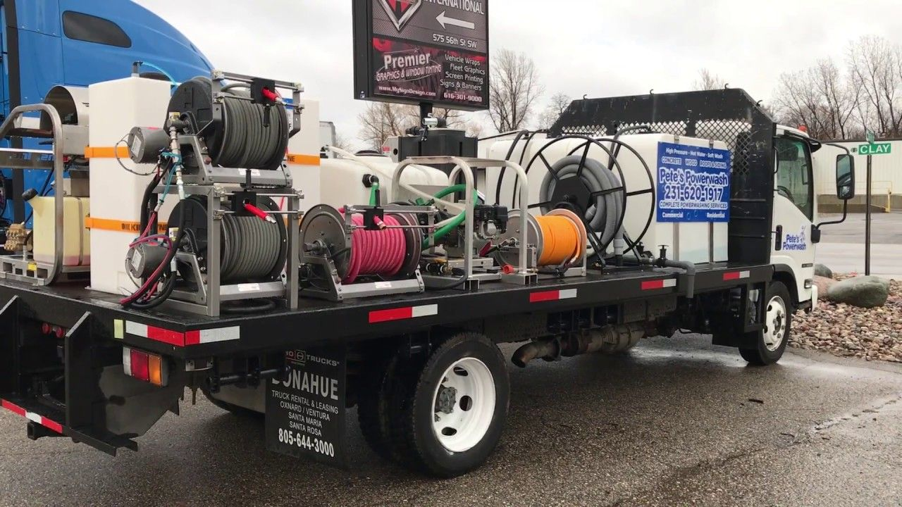 3500 PSI 9 GPM hot water power washers, soft wash