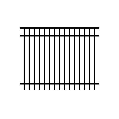 Jerith Jefferson 4 Ft X 6 Ft Black Aluminum Fence Panel