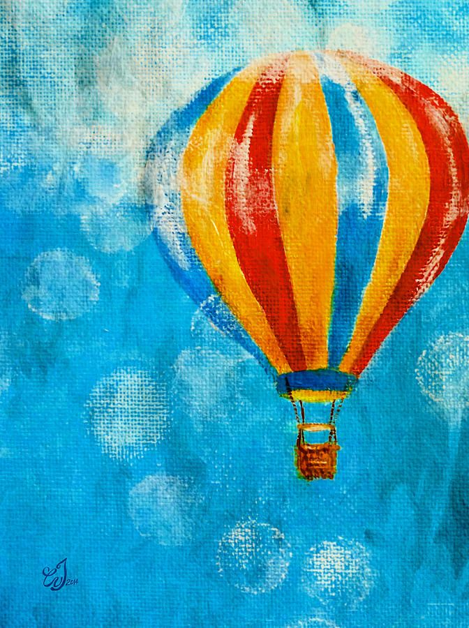 Abstract Hot Air Balloon Colourful Painting Art Large Poster /& Canvas Pictures