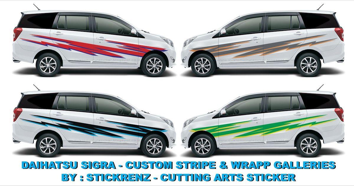 Daihatsu Sigra Custom Stripe Wrapp Concept Galleries 003 Harga Mobil Ayla 2020 Review Spesifikasi Gambar Otomotifo Ke Modifikasi Mobil Daihatsu Mobil Bekas