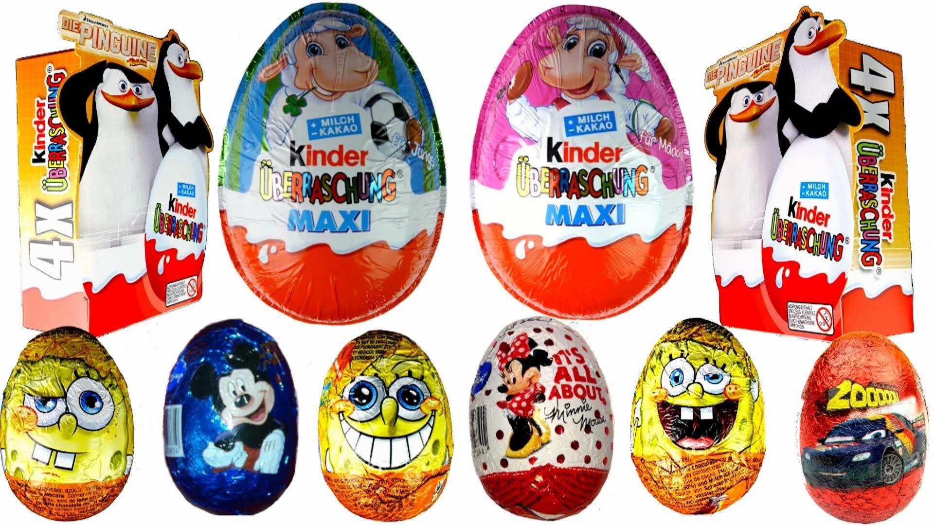 Kinder joy toys car   Surprise eggs Disney Pixar Cars Mickey Mouse Hello Kitty MAXI