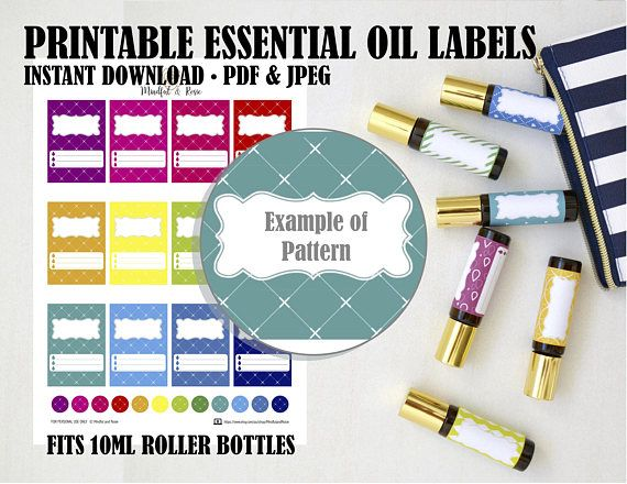 Printable Essential Oil Labels For 10ml Roller Bottles These Sticker Labe Essential Oil Labels Essential Oil Roller Bottle Labels Essential Oil Roller Bottle