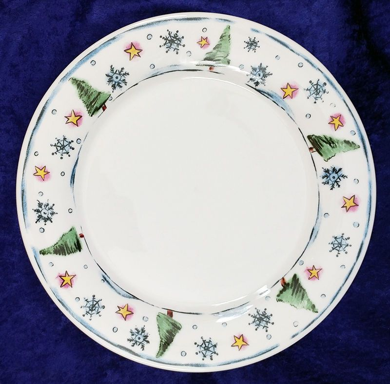Home Essentials Chilly Dinner Plate 10.5 inch Christmas Trees Stars Snowflakes #HomeEssentials  sc 1 st  Pinterest & Home Essentials Chilly Dinner Plate 10.5 inch Christmas Trees Stars ...