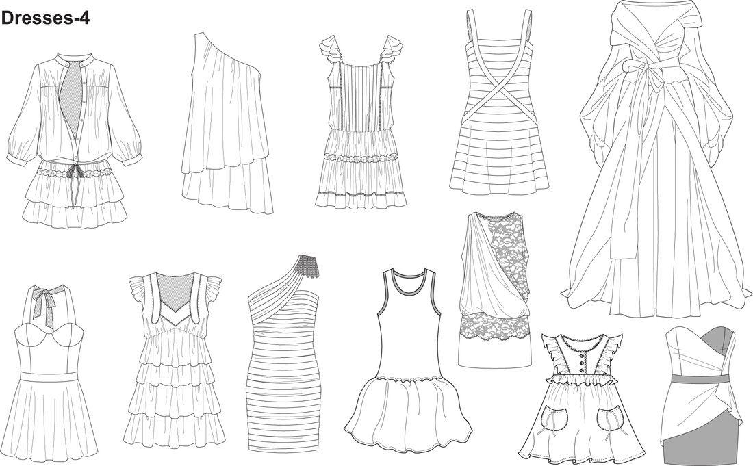 Illustrator Fashion Templates Fashion Design Template Fashion Templates Textiles Fashion