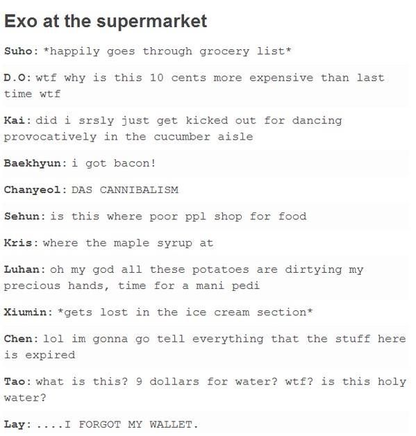 EXO senario; kekekeke so funny! I like Chenu0027s and Taou0027s reaction - next line küchen