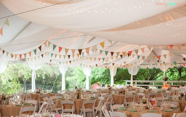 Fabric Bunting Wedding Decor 1