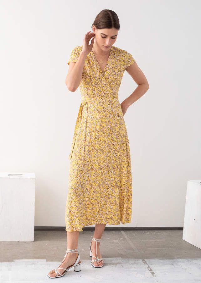 5c132df63abf Floral Midi Wrap Dress en 2019 | Products | Wrap dress, Wrap dress ...