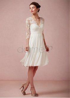 Brautkleid Knielang Standesamt Hochzeitskleider Pinterest