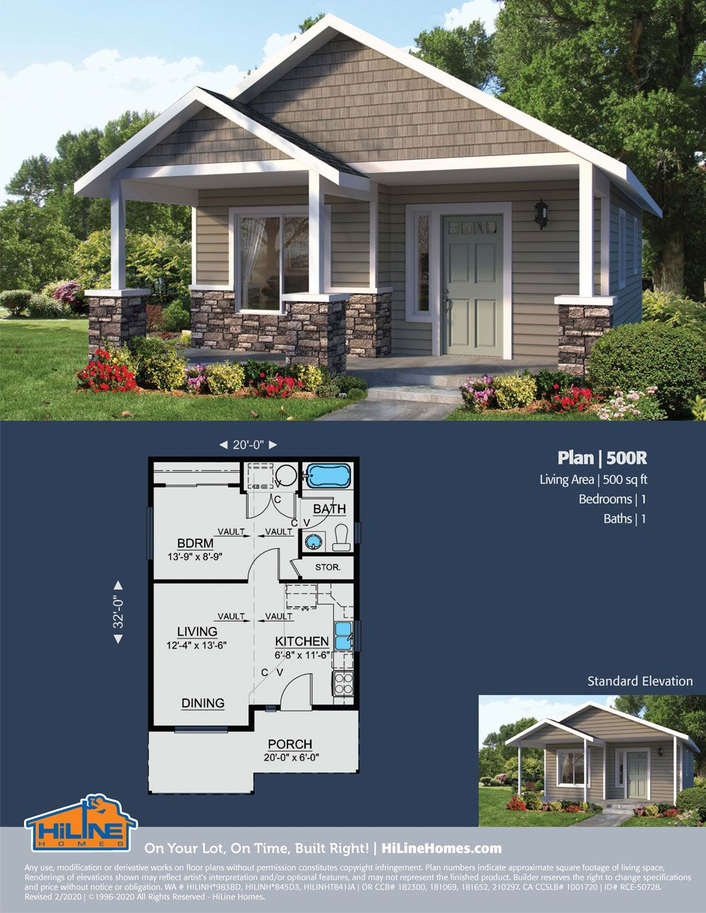 Hiline Homes Plan 500 In 2020 House Plans Floor Plans Vacation Home