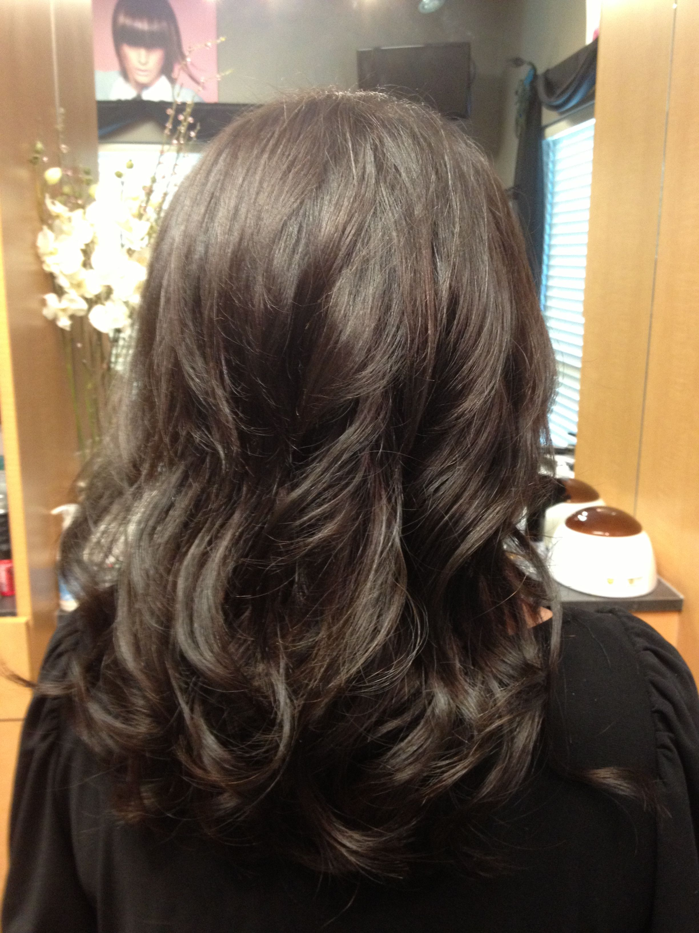 Dark Hair With Klix Hair Extensions For Volume And Some Length