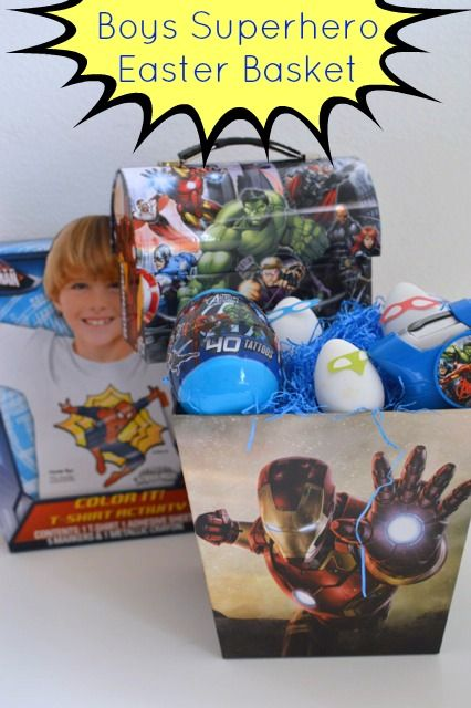 My little boy would love this superhero boys easter basket easter my little boy would love this superhero boys easter basket negle Images