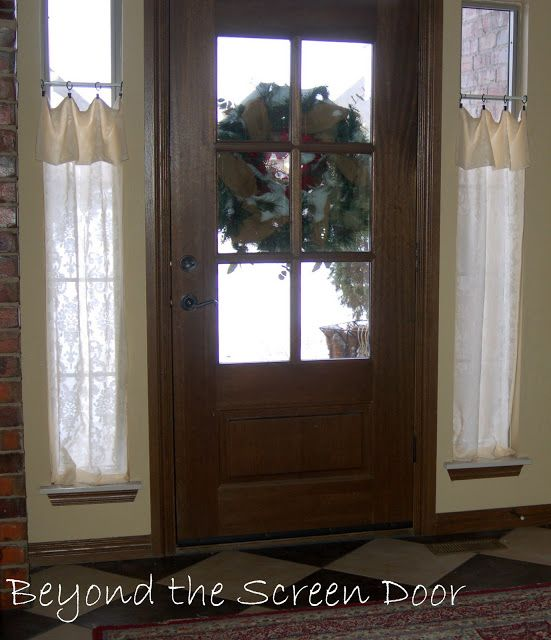 New Entry Hall Window Treatments Sonya Hamilton Designs Front Doors With Windows Front Door Curtains Home