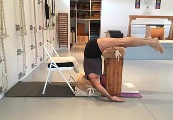 ardha halasana  restorative yoga iyengar iyengar yoga