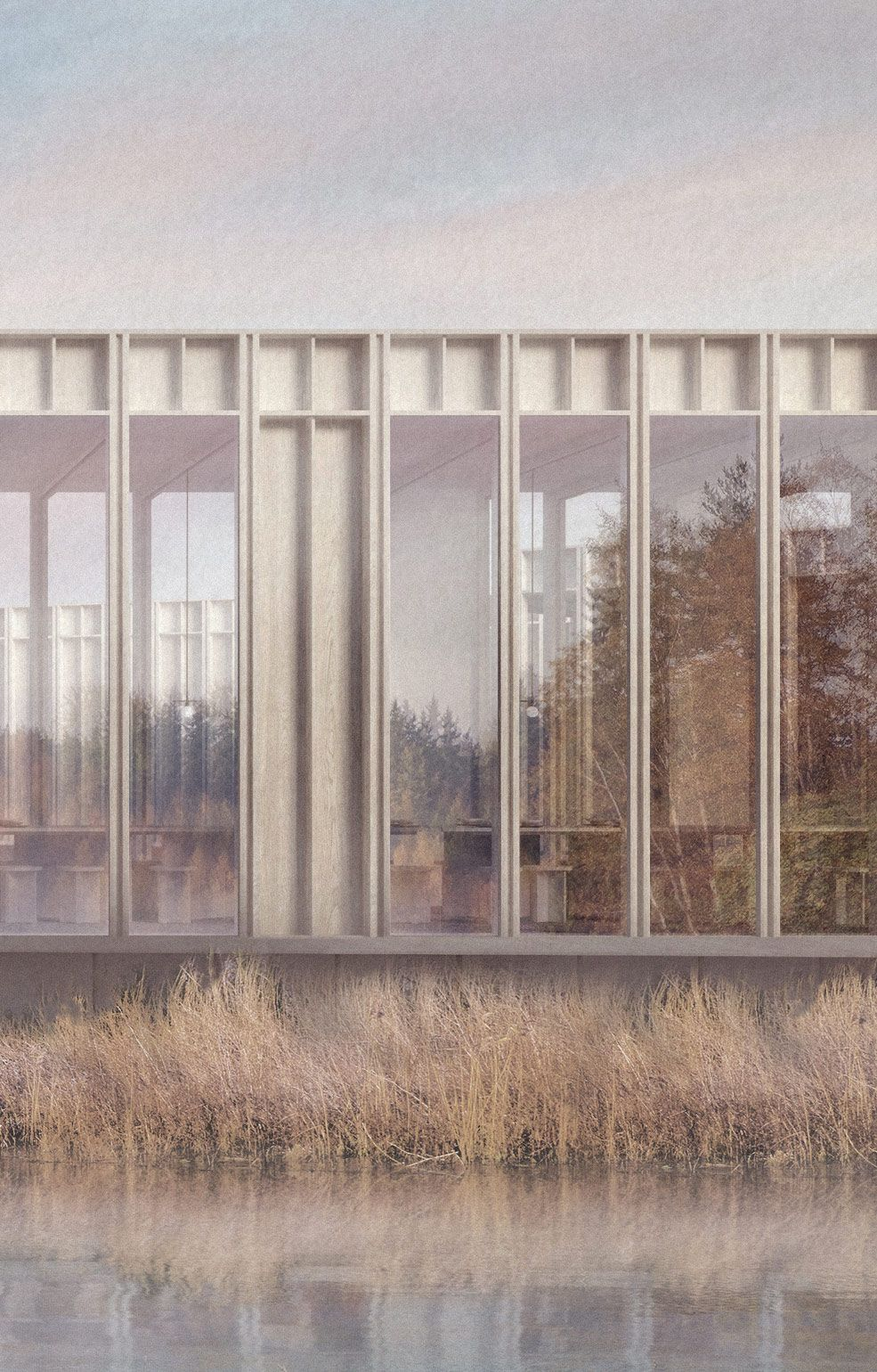 Kent Wildlife Centre render detail — Architecture for