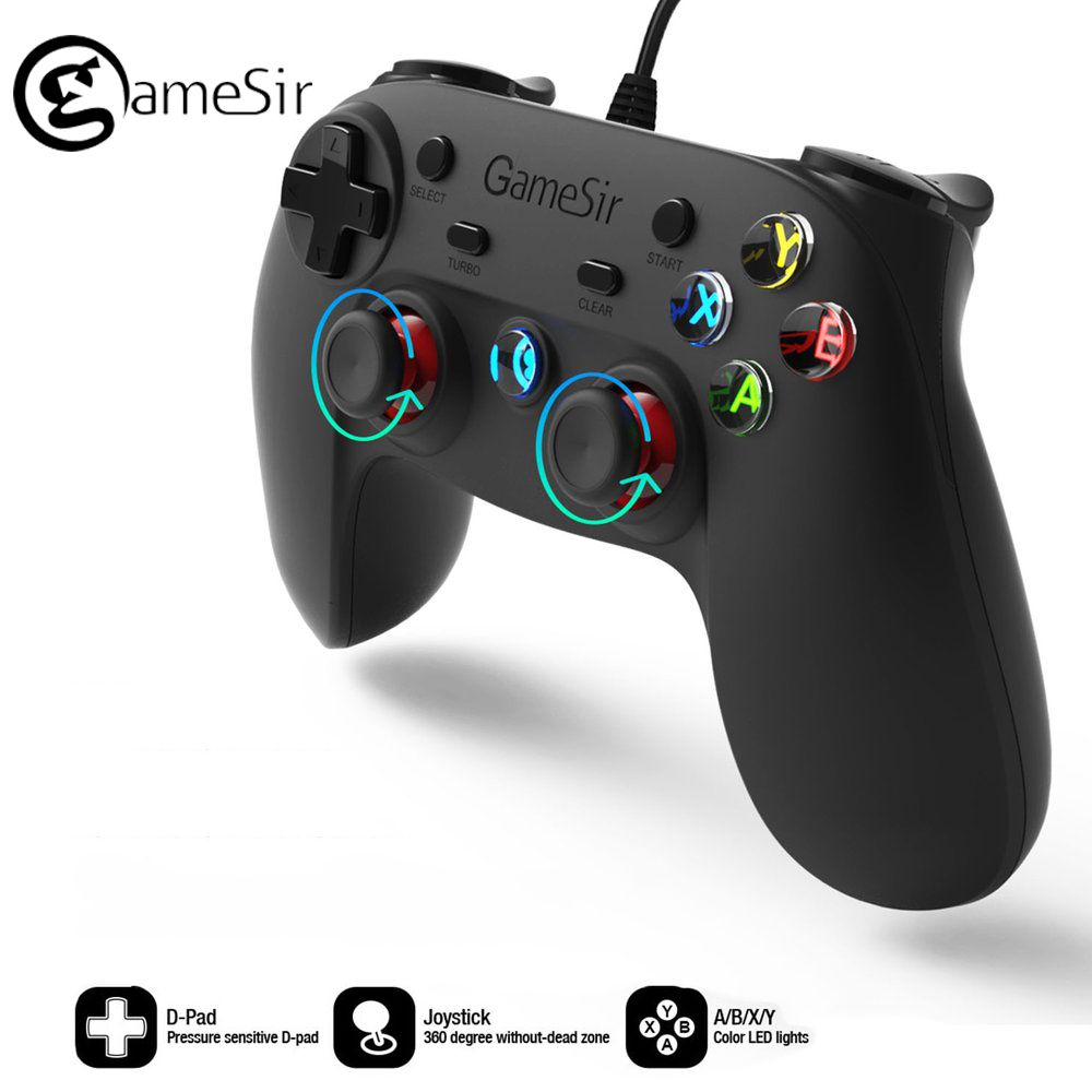 Original GameSir G3W Wired Gamepad Controller For Smartphone Tablet ...