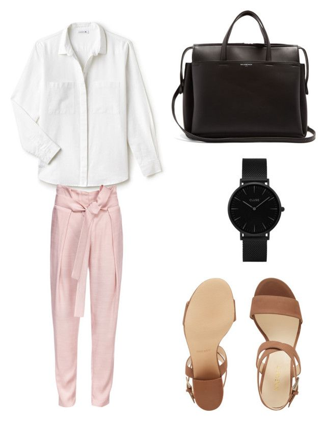"""""""Lunch with love"""" by katharina-thi on Polyvore featuring Mode, Lacoste, Lake, Nine West, Balenciaga und CLUSE"""