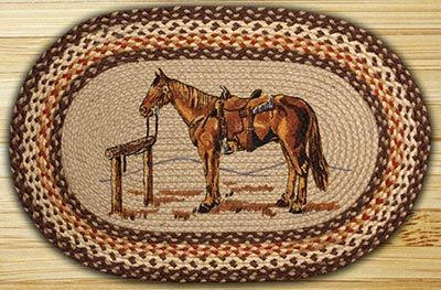 Thank+you.+You+will+receive+a+$1+off+coupon+during+checkout.+Horse+Oval+Patch+Braided+Rug