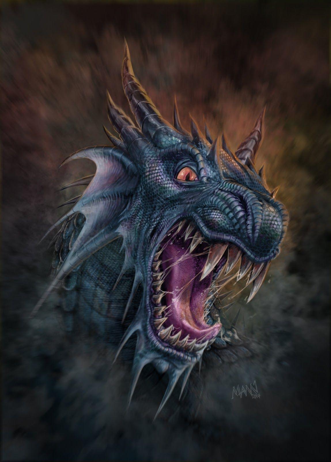 Открытая пасть дракона картинка