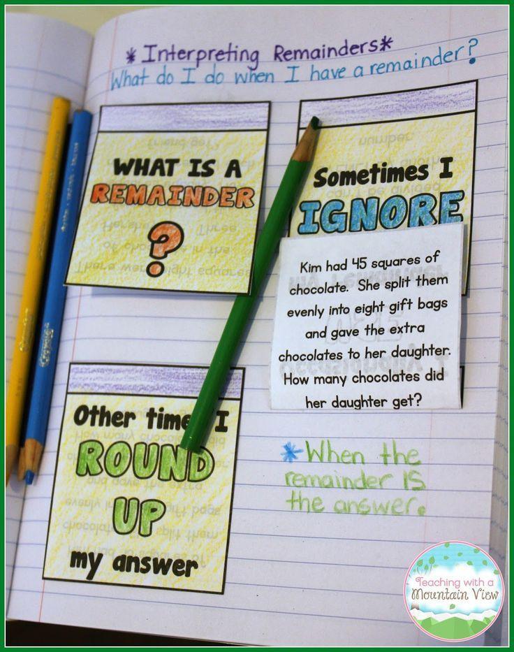 Teaching Long Division Teaching long division, Long division and - kids menu templates