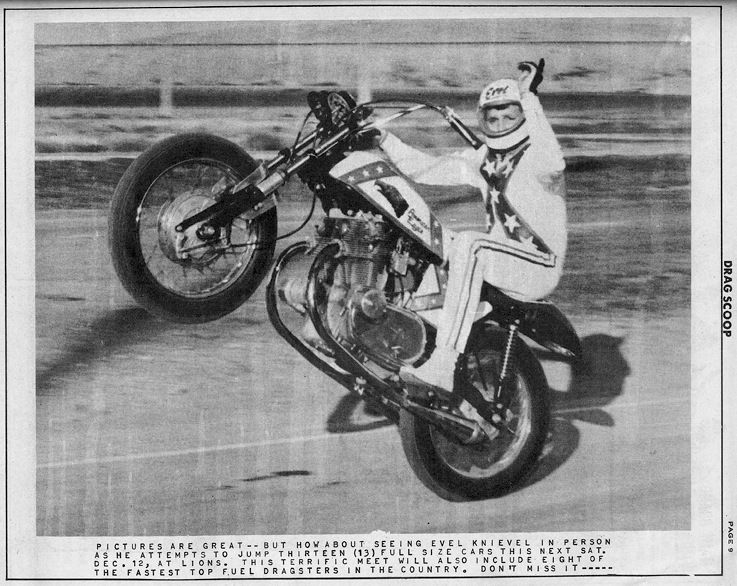 Vintage Evel Knievel In His: A Rare Shot Of Evel Knievel On His Laverda 750cc American