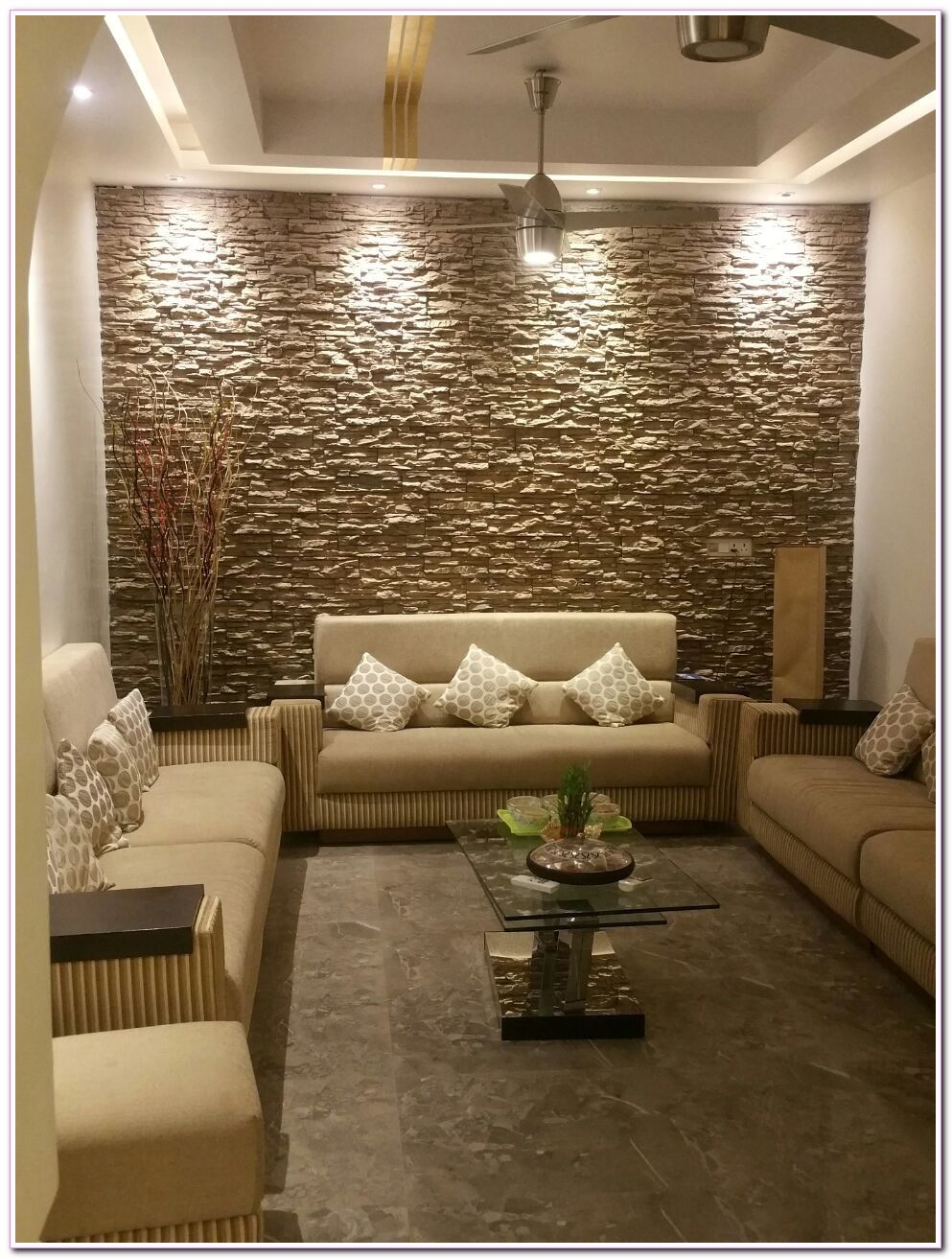 Living Room Wallpaper Accent Wall Interior Design In 2020 Interior Wall Design Stone Wall Interior Design Wall Tiles Living Room #tile #accent #wall #in #living #room