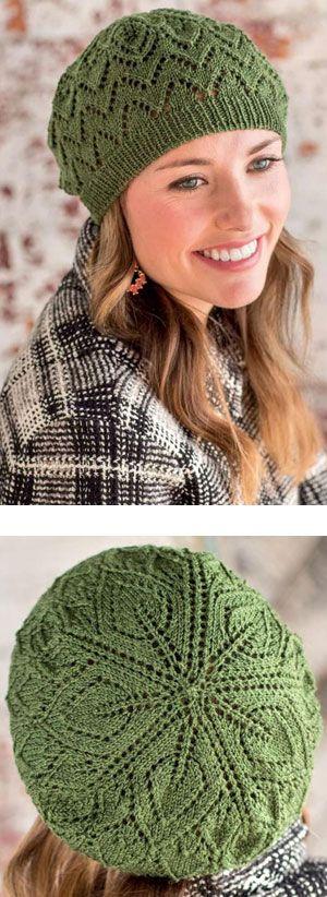 Lace beret knitting pattern free  661b4e4c0b37