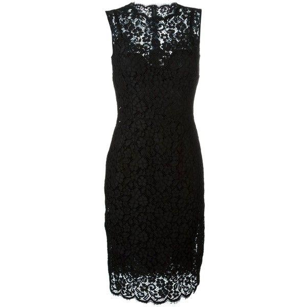 Dolce & Gabbana Bow Detail Dress (35.304.490 IDR) ❤ liked on Polyvore featuring dresses, black, dolce gabbana dress, figure hugging dress, form fitting short dresses, sleeveless dress and bow dress