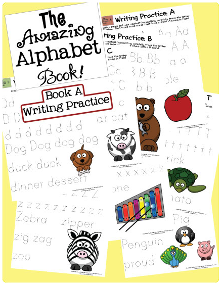 free printables the amazing alphabet writing practice books preschool packs alphabet. Black Bedroom Furniture Sets. Home Design Ideas