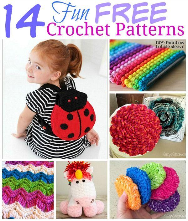14 Fun & Free Crochet Patterns!