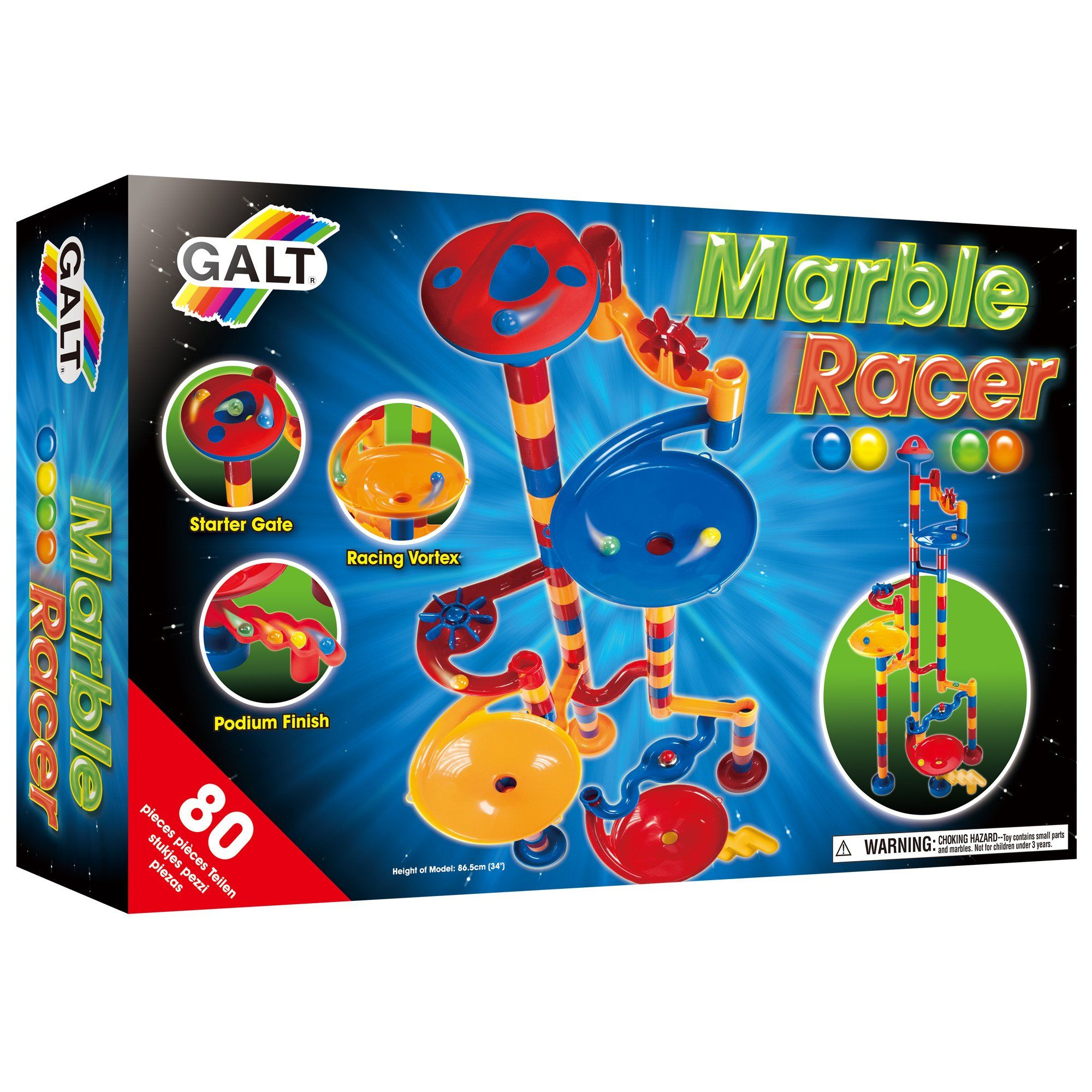 Marble Racer (80Piece). On your mark, get set, race! You
