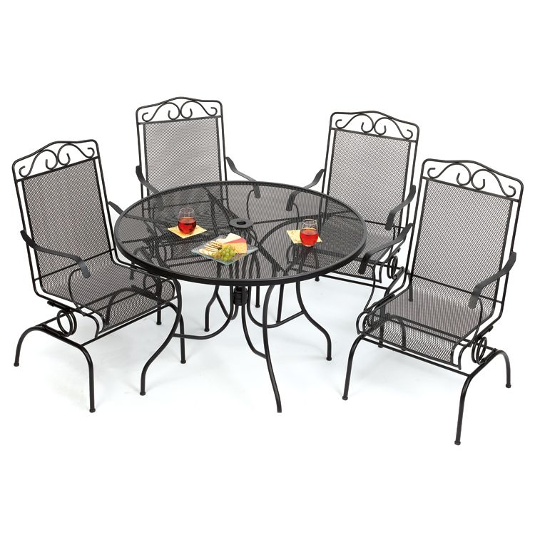 old time pottery iron patio furniture