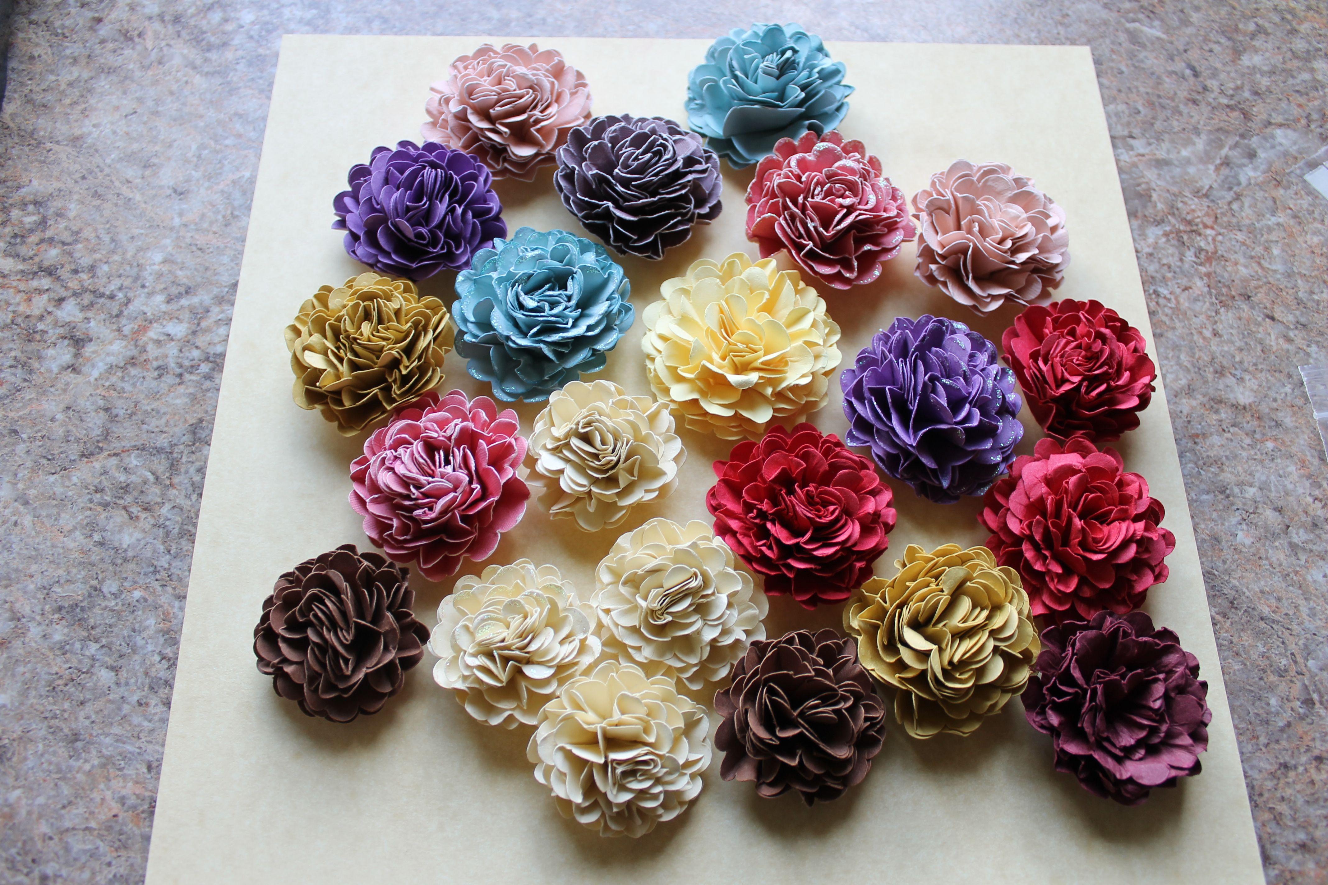 Handmade Paper Carnations For Floral Arranging Scrapbooking Card