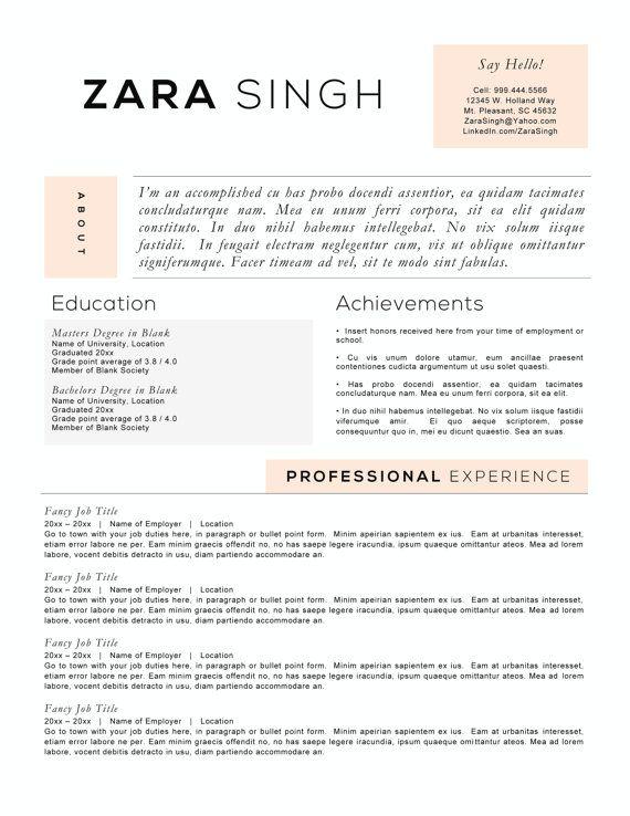 resume templates free accomplishment based