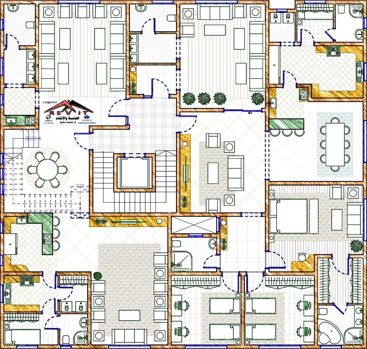 تصميم فيلا مودرن من إيجي ريفت الأول علوي House Plans Design House