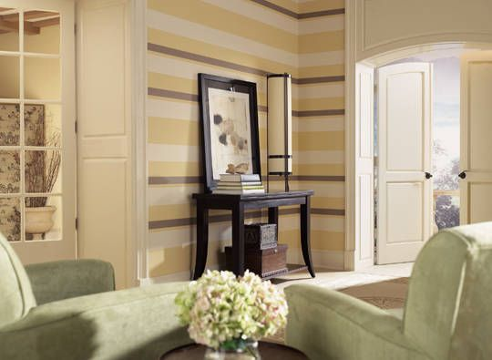 Wall Colors We Love for the Living Room Striped walls, Living