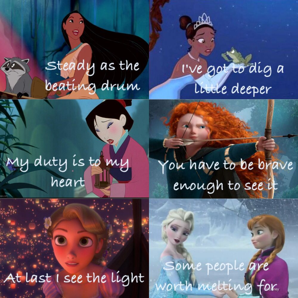 I saw this and I now understand life | Disney princess quotes |Disney Princess Love Quotes From Movies