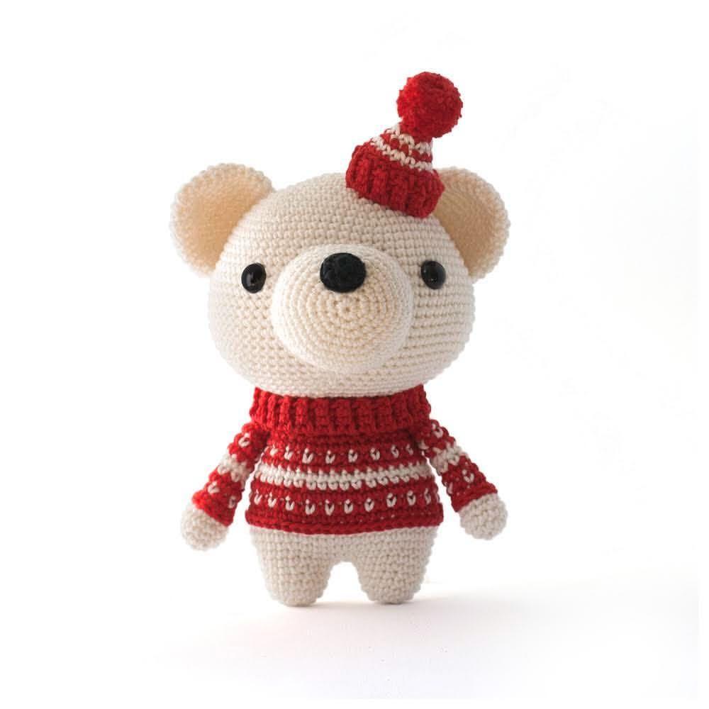 Pjotr the Polar Bear. Cute DIY Fluffies Crochet pattern. www ...
